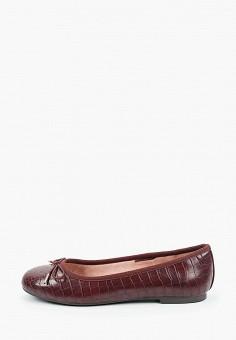 Балетки, Tamaris, цвет: бордовый. Артикул: TA171AWKFNW2. Обувь / Балетки
