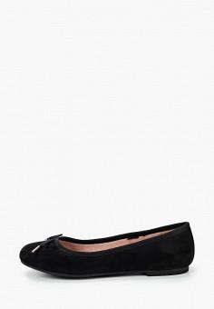 Балетки, Tamaris, цвет: черный. Артикул: TA171AWKFNW3. Обувь / Балетки