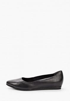 Балетки, Tamaris, цвет: черный. Артикул: TA171AWKFNW6. Обувь / Балетки
