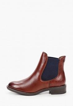 Ботинки, Tamaris, цвет: коричневый. Артикул: TA171AWKFOA0. Обувь / Ботинки / Челси