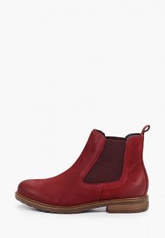 Ботинки, Tamaris, цвет: бордовый. Артикул: TA171AWKFOA6. Обувь / Ботинки / Челси