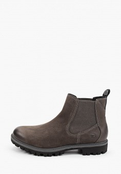 Ботинки, Tamaris, цвет: серый. Артикул: TA171AWKFOE3. Обувь / Ботинки / Челси