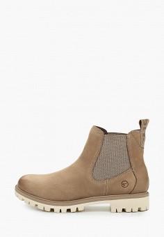 Ботинки, Tamaris, цвет: бежевый. Артикул: TA171AWKFOE4. Обувь / Ботинки / Челси