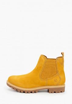 Ботинки, Tamaris, цвет: желтый. Артикул: TA171AWKFOE6. Обувь / Ботинки / Челси