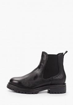 Ботинки, Tamaris, цвет: черный. Артикул: TA171AWKFOF7. Обувь / Ботинки / Челси