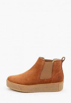 Ботинки, Tamaris, цвет: коричневый. Артикул: TA171AWKFOG5. Обувь / Ботинки / Челси