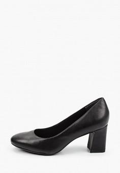 Туфли, Tamaris, цвет: черный. Артикул: TA171AWKFOJ4. Обувь / Туфли