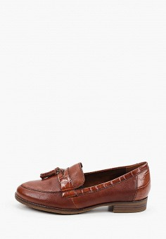 Лоферы, Tamaris, цвет: коричневый. Артикул: TA171AWKFOL5. Обувь / Туфли