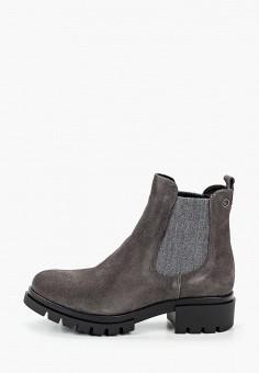 Ботинки, Tamaris, цвет: серый. Артикул: TA171AWKFPD3. Обувь / Ботинки / Челси