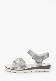 Сандалии, Tf's, цвет: серебряный. Артикул: TF003AWIRPY8. Обувь / Сандалии
