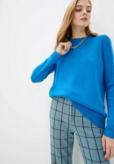 Джемпер, Theory, цвет: синий. Артикул: TH008EWIAXA6. Одежда / Джемперы, свитеры и кардиганы / Джемперы и пуловеры / Джемперы