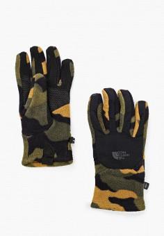 Перчатки, The North Face, цвет: хаки. Артикул: TH016DMHYBI1. Аксессуары / Перчатки и варежки