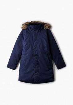 Пуховик, The North Face, цвет: синий. Артикул: TH016EGGMYY1. Девочкам / Спорт