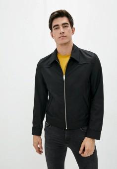 Куртка, The Kooples, цвет: черный. Артикул: TH021EMJVYY5. Одежда / Верхняя одежда / Легкие куртки и ветровки