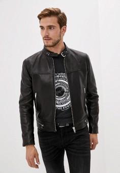 Куртка кожаная, The Kooples, цвет: черный. Артикул: TH021EMJVYY9. Одежда / Верхняя одежда / Кожаные куртки