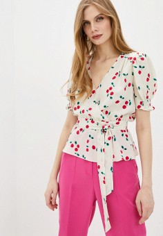 Блуза, The Kooples, цвет: белый. Артикул: TH021EWHMCL4. Одежда / Блузы и рубашки