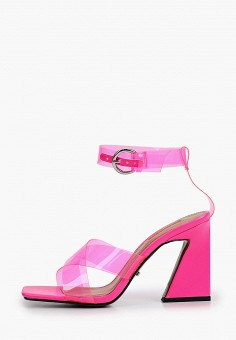 Босоножки, Topshop, цвет: розовый. Артикул: TO029AWIYSK8.