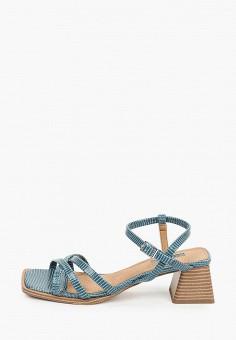 Босоножки, Topshop, цвет: синий. Артикул: TO029AWKICX5. Обувь / Босоножки