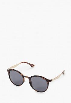 Очки солнцезащитные, Topshop, цвет: коричневый. Артикул: TO029DWJYDZ7. Аксессуары / Очки