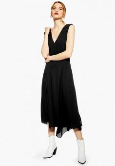 Платье, Topshop, цвет: черный. Артикул: TO029EWESBT8. Одежда / Платья и сарафаны / Вечерние платья