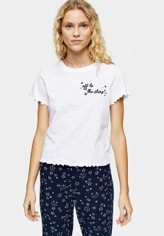Пижама, Topshop, цвет: белый, синий. Артикул: TO029EWIBUG2. Одежда / Домашняя одежда / Пижамы