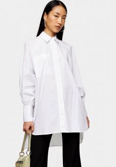 Рубашка, Topshop, цвет: белый. Артикул: TO029EWIEYA4. Одежда / Блузы и рубашки / Рубашки