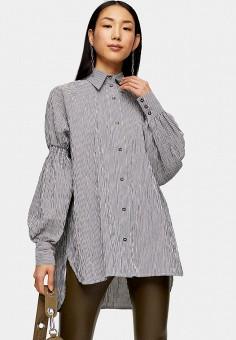 Блуза, Topshop, цвет: серый. Артикул: TO029EWIEYA8.