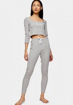 Пижама, Topshop, цвет: серый. Артикул: TO029EWIKJL2. Одежда / Домашняя одежда / Пижамы