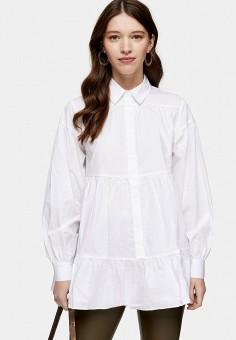 Блуза, Topshop, цвет: белый. Артикул: TO029EWIQUJ4. Одежда / Блузы и рубашки