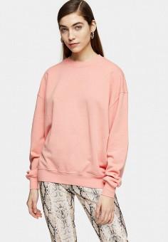 Свитшот, Topshop, цвет: розовый. Артикул: TO029EWISPM3.