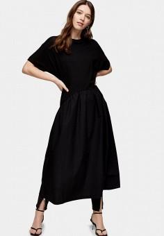 Платье, Topshop, цвет: черный. Артикул: TO029EWISPP0.