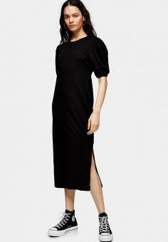 Платье, Topshop, цвет: черный. Артикул: TO029EWISPP2.