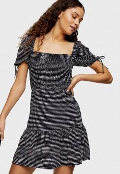 Платье, Topshop, цвет: серый. Артикул: TO029EWISPP6. Одежда / Платья и сарафаны / Повседневные платья