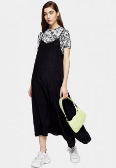 Платье, Topshop, цвет: черный. Артикул: TO029EWIVSV4.