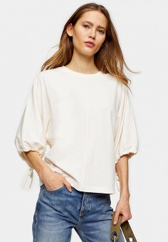 Блуза, Topshop, цвет: белый. Артикул: TO029EWIYFM6.