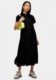 Платье, Topshop, цвет: черный. Артикул: TO029EWIYFO2.