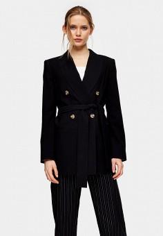 Пиджак, Topshop, цвет: черный. Артикул: TO029EWIZVG6.