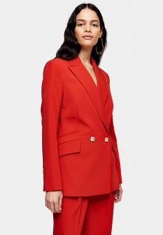 Пиджак, Topshop, цвет: красный. Артикул: TO029EWIZVG9.