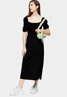 Платье, Topshop, цвет: черный. Артикул: TO029EWJCZN0. Одежда / Платья и сарафаны / Повседневные платья