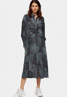 Платье, Topshop, цвет: черный. Артикул: TO029EWJCZN8. Одежда / Платья и сарафаны / Повседневные платья
