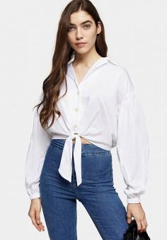 Рубашка, Topshop, цвет: белый. Артикул: TO029EWJDDK7. Одежда / Блузы и рубашки