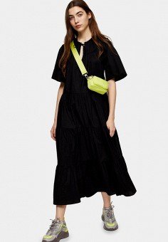 Платье, Topshop, цвет: черный. Артикул: TO029EWJGKC5. Одежда / Платья и сарафаны