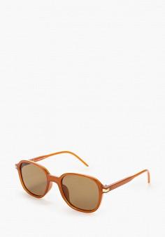 Очки солнцезащитные, Topman, цвет: коричневый. Артикул: TO030DMIXQJ1.