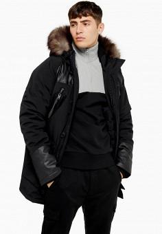 Куртка утепленная, Topman, цвет: черный. Артикул: TO030EMGTXW3.