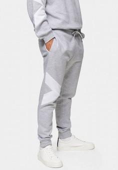 Брюки спортивные, Topman, цвет: серый. Артикул: TO030EMIEYT2. Одежда / Брюки / Спортивные брюки