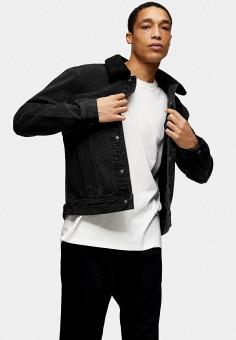 Куртка джинсовая, Topman, цвет: черный. Артикул: TO030EMIHEQ9.