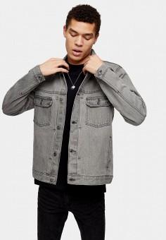 Куртка джинсовая, Topman, цвет: серый. Артикул: TO030EMISSB9. Одежда / Верхняя одежда / Джинсовые куртки