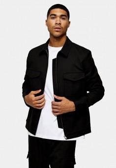 Куртка, Topman, цвет: черный. Артикул: TO030EMIYRN6.