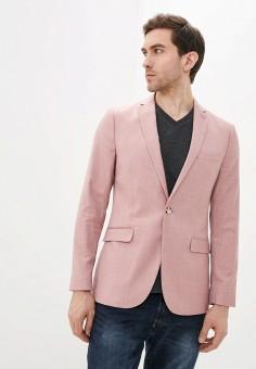Пиджак, Topman, цвет: розовый. Артикул: TO030EMJDDS7.