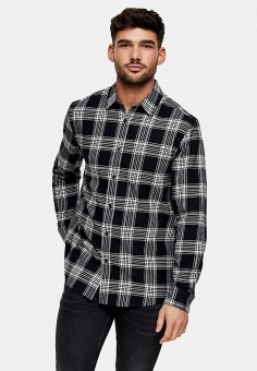 Рубашка, Topman, цвет: черный. Артикул: TO030EMJECO5.
